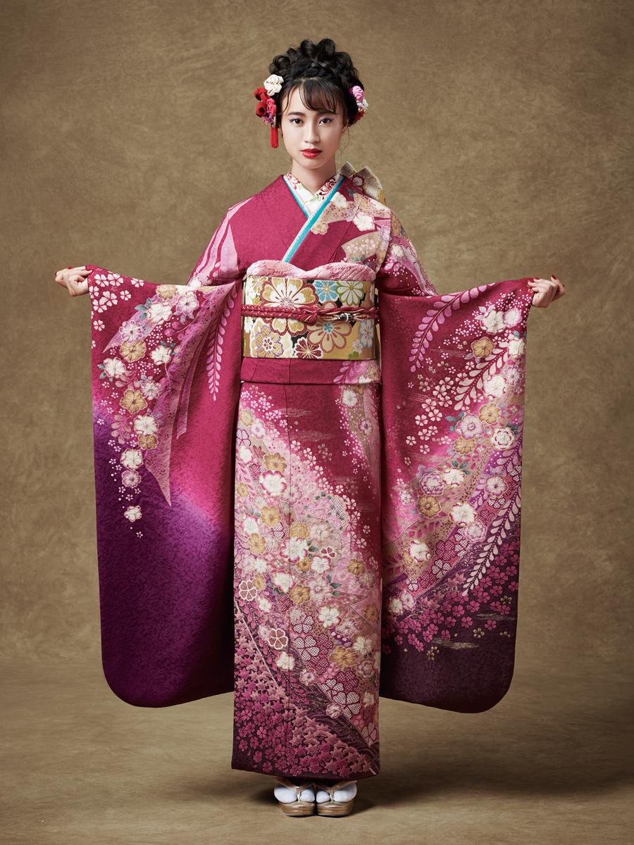 振袖の一蔵 新作コレクション2019 紫 エンジE583